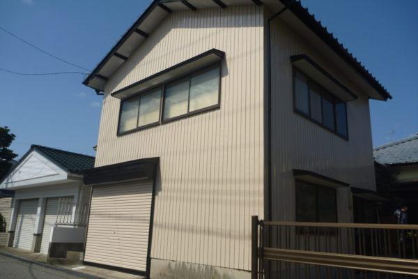 新潟市中央区長潟 W様邸 車庫外壁塗装工事