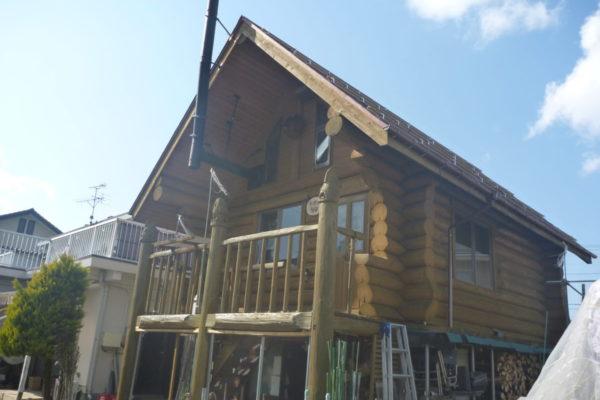 新潟県新潟市秋葉区Y様ログハウス防腐防虫塗装