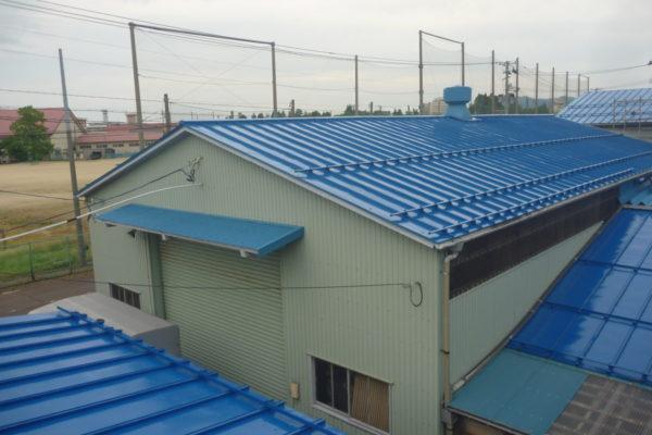 新潟県新発田市S工場 屋根塗装1200㎡