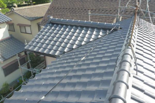 新潟県新潟市江南区N様邸 セメント瓦屋根シリコン塗装工事