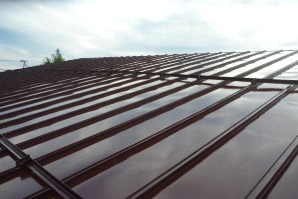 新潟市西蒲区H様社屋屋根シリコン塗装工事