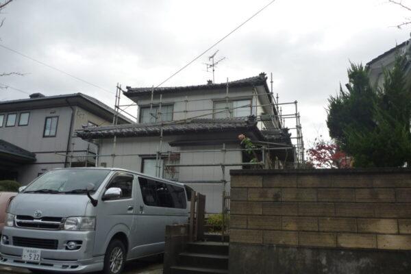 新潟市江南区T様邸外壁シリコン塗装・破風板シリコン塗装・外壁一部張替え・屋根瓦雨漏り補修工事
