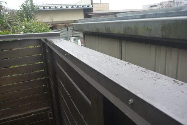 新潟市中央区 A様邸 木製フェンス塗装工事・金属板金カバー施工工事
